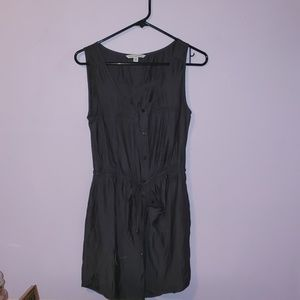 Gray Button Front Tank Dress [American Eagle]